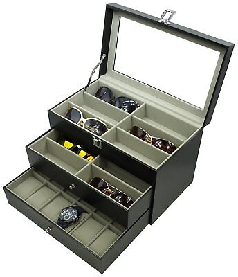Glasses and 12 Watches, Sunglasses Watch Box Eyewear Accessories