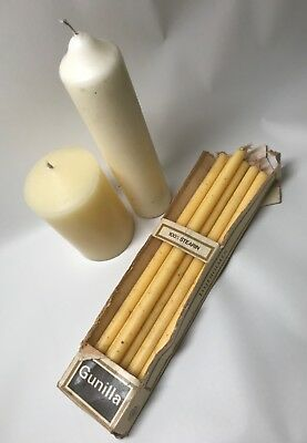 Group of Antique Candlestick Re-enactment Candles. Church Candles. Sealed Knot.