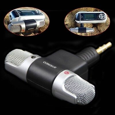 Mini stereo Microfono Registratore audio con jack da 3,5 mm per Smart Phone WQ