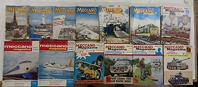 Meccano Magazine, Full Year, 1955-1972 Various years, collectable.