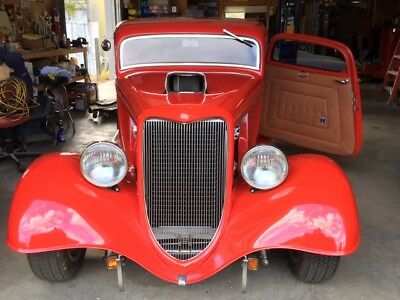 1934 Ford Other  1934 Ford 3 Window Coupe Street Rod BDS Blower 383 SBC Recaro Leather Seats AC