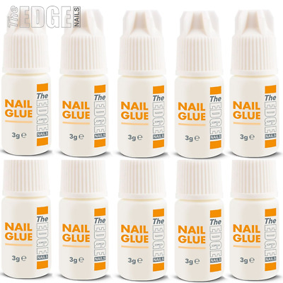 The Edge Nails Adhesive Glue 10x 3g Super Strong For False Nail Tips Extensions