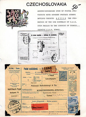 Austro-Hungarian item of Postal Stationery with Hungary stamps. MC