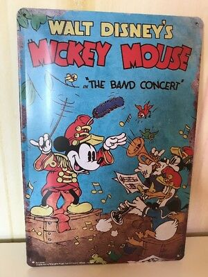 Walt Disney Micky Mouse Maus The Band Concert 30x20 cm