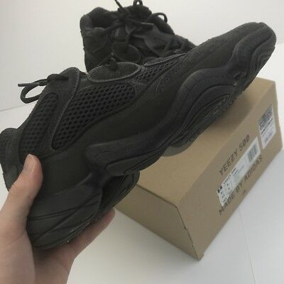 best service a13bc 63bf2 ADIDAS YEEZY 500 Utility Black Desert Rat Sneakers - UK 8
