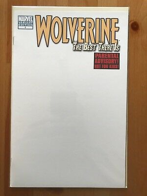 WOLVERINE THE BEST THERE IS #1 BLANK VARIANT VFN/NM Sketch Cover Bagged & Board