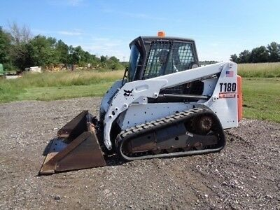 2011 Bobcat T180 Skid Steer, Cab/Heat/Air, Power-Bobtach, 2,865 Hours