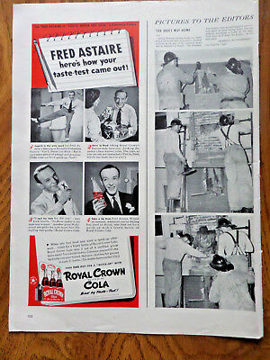 1942 RC Royal Crown Cola Ad Movie Singing Star Fred Astaire