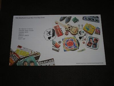 2007 GB Stamps THE BEATLES MINI SHEET First Day Cover LIVERPOOL Cancels FDC