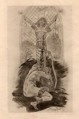 Félicien Rops - Lover of Christ, 1888 - Famous Print!