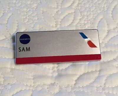 American Airlines Employee Name Badge Pin