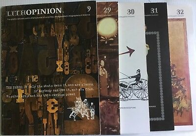 5 Lithopinion Magazines Graphic Arts Journal Design Art Type Printing Graphics