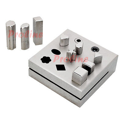 9 PC Assorted Shape Metal Disc Cutter Hole Punch Puncher Goldsmith Jewelry Gold