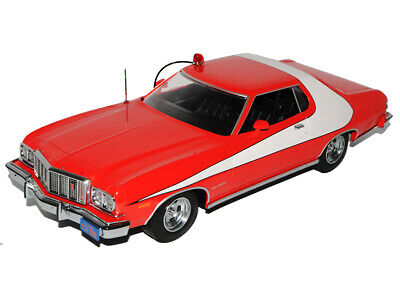 Ford Gran Torino Sport Coupe Rot Weiss Starsky und Hutch 1976 1/18 Greenlight ..