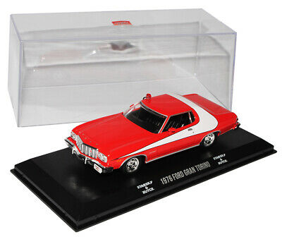 Ford Gran Torino Sport Coupe Rot Weiss Starsky und Hutch 1976 1/43 Greenlight ..
