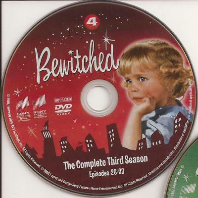 Bewitched (DVD) Season 3 Third Disc 4 Replacement Disc U.S. Issue!