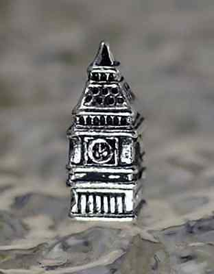 LOOK New BIG BEN Clock Buckingham Palace London charm bead jewelry Sterling silv