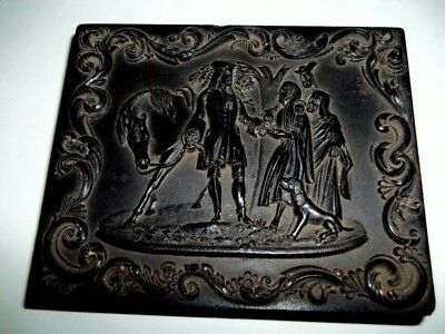 Antique 1/4 Plate Ambrotype Daguerreotype Gutta Percha Case From The 1850's