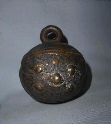 Antique China TOP VERY HIGH AGED LONGTIME USED BRONZE MAGIC TIGER BELL