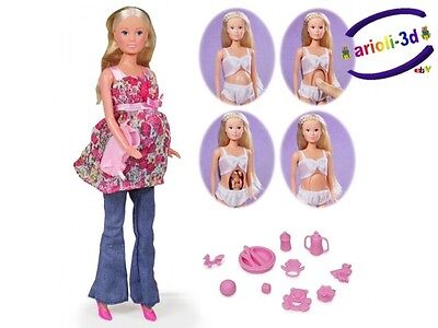 Steffi Love Welcome Baby Pregnant Doll Poupee Enceinte 11 1/2''- 29Cm Barbie New