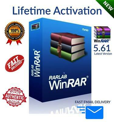 WinRar 5.61 Latest Version LIFETIME KEY with YOUR NAME - FAST EMAIL DELIVERY