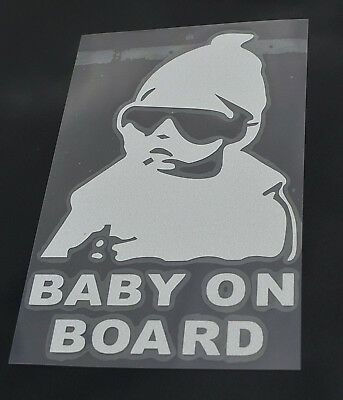 Car Window sticker Baby On Board Warning Decal Reflective Body Sign. 0262