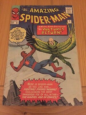 Amazing Spider-Man #7 2nd Appearance Of The Vulture (Silver Age 1963) Pence Copy