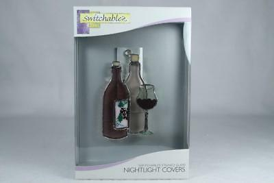 Switchables -Stained Glass Night Light Cover-Wine Bottle SW055 NIB!