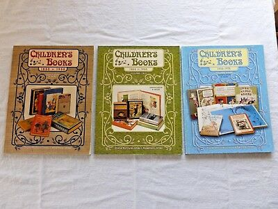COLLECTOR'S GUIDE TO CHILDREN'S BOOKS Volume 1 2 & 3 1850 - 1975 Gently Used