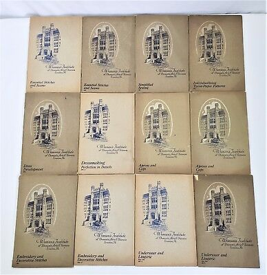 12 Woman's Institute of Domestic Arts & Sciences Sewing Fashion Books 1916 - 27