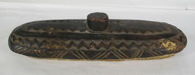 Vintage African Dogon Tribe Carved Lid To Ceremonial Trough Ark of the World yqz