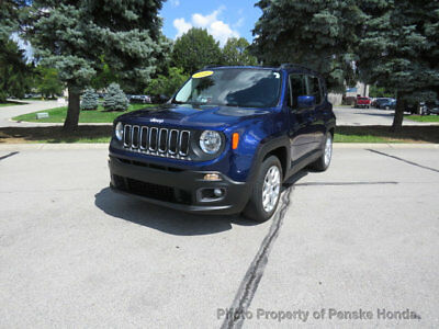 2016 Jeep Renegade FWD 4dr Latitude FWD 4dr Latitude Low Miles SUV Automatic Gasoline 4 Cyl Jetset Blue