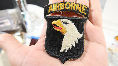 WWII US Army 101st Airborne Patch with Attached Tab