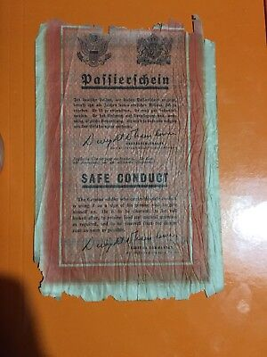 Safe Conduct Passerschin Us Usa Ww2 Wwii Wehrmacht Propaganda Normandia D Day