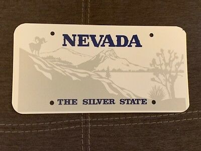 Vintage Nevada Blank Sample License Plate