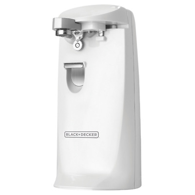 BLACK and DECKER Electric EC475W Extra-Tall Can Opener Knife Sharpener White