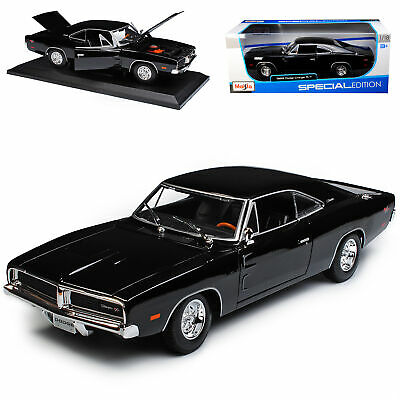 Dodge Charger R/T Coupe Schwarz 1969 Bekannt aus The Fast and the Furious 1/18..