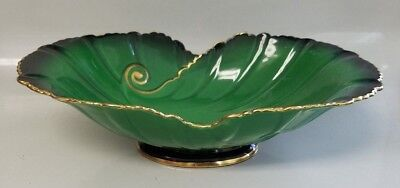 Carlton Ware Vert Royale Center Piece Footed Bowl