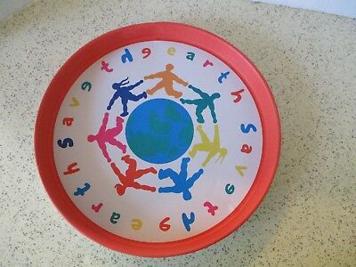 """Vintage Tin Tray, """"save The Earth"""", Colorful And Unique......great Advice!!!!"""