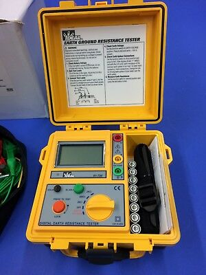 Ideal Industries 61-796 Earth Ground Resistance Tester, 3-Pole, w/ Lead Set Kit