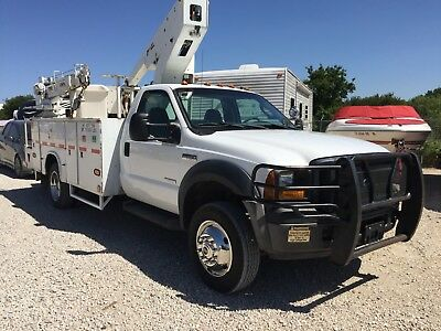 2007 Ford F550 Bucket Truck / Auto Crane Combo. 1 Of A Kind! Powerstroke Diesel