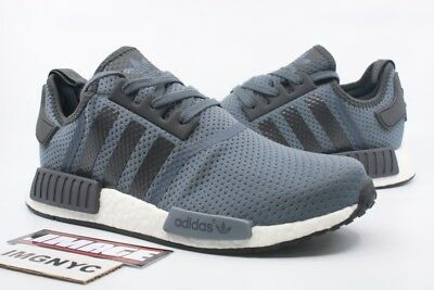 402a0413d Adidas Nmd R1 Jd Sports Exclusive New Size 10 Grey Black White Blue Bb1355
