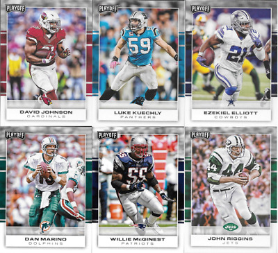 2017 Panini Playoff Football - Base & Legends Cards - Choose From Card #'s 1-200