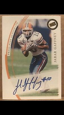 Florida Gators Autograph And Memorabilia Card Lot Emmitt Smith Fred Taylor More