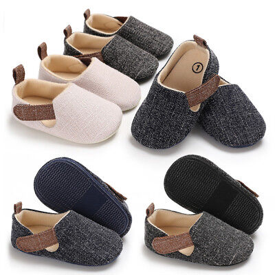 Toddler Infant Boy Baby Kids Denim Canvas Shoes Sneaker Anti-slip Soft Sole New