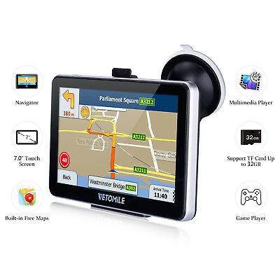 7 inch Touch Screen 8GB Multi-media Truck Car GPS Navigation Navigator with Maps