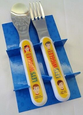THE WIGGLES... New Spoon + Fork Cutlery Set, New/Boxed, Age 12+ Months, Yellow