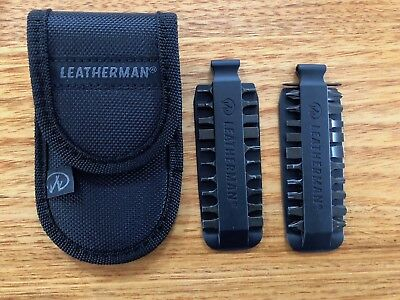 Leatherman Bit Kit 21 Double Sided Bits 931014 and Leatherman Pouch 930381New