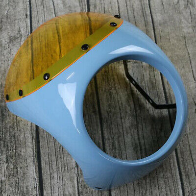 """7"""" Headlight Fairing Wind Screen Cover for Retro Cafe Racer Style"""
