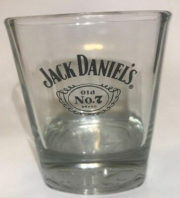Jack Daniels Old No. 7 Whiskey Square Rocks Low Ball Glass